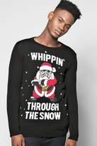 Boohoo Whippin Through The Snow Christmas Jumper
