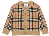 Burberry Edie Vintage Check Wool Cardigan