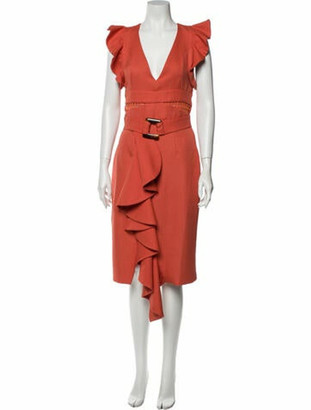 PatBO V-Neck Long Dress w/ Tags Orange