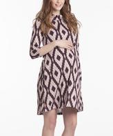 Ruby & Blush Geometric Maternity Swing Dress
