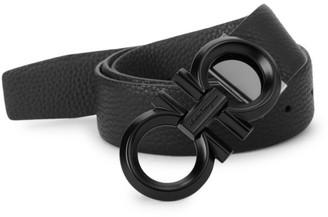 Salvatore Ferragamo Reversible Leather Logo Belt