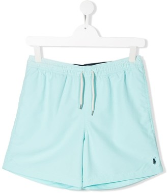 Ralph Lauren Kids Embroidered Logo Swim Shorts