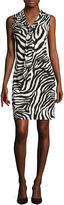 Liz Claiborne Sleeveless Zebra Dress - Tall