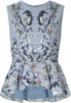 Erdem - embroidered flared dress