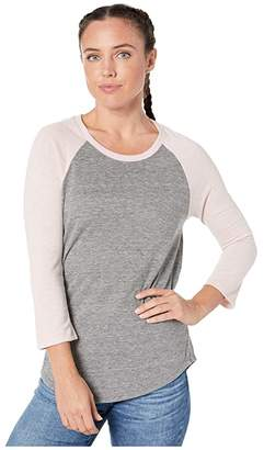 Alternative Jersey Baseball T-Shirt (Eco Grey/Eco Rose Quartz) Women's T Shirt