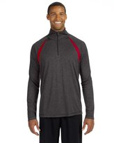 Alo Sport Men's Quarter-Zip Lightweight Pullover with Insets - S