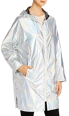 Yves Salomon Hooded Holographic Raincoat
