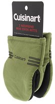 Cuisinart Mini Oven Mitts w/Neoprene for Easy Gripping, Heat Resistant up to 500 degrees F, Green-2pk