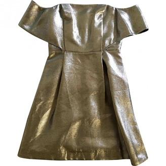 Sandro Gold Cotton Dresses