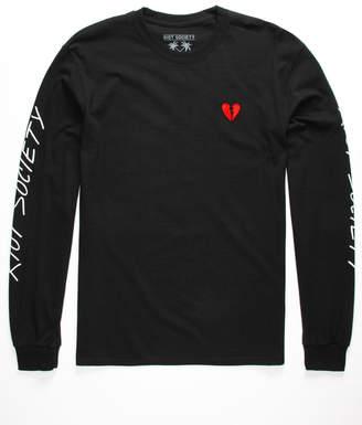 Riot Society Broken Heart Embroidered Mens T-Shirt