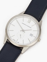 Larsson & Jennings Navy and Silver Saxon 39mm Watch