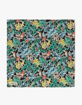 The Hill-Side Pocket Square- Toucans & Bananas Print