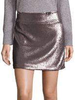 Halston Sequin Mini Skirt