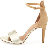 Joie Jaclyn Two-Tone Ankle-Wrap Sandal, Nude/Platinum