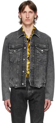 Versace Black Washed Denim Jacket