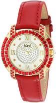 Burgi Women's BUR156RD Round Dial Three Hand Quartz Strap Watch