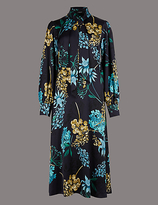 Autograph Floral Print Long Sleeve Maxi Dress