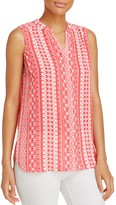 Foxcroft Leena Island Geometric Sleeveless Top