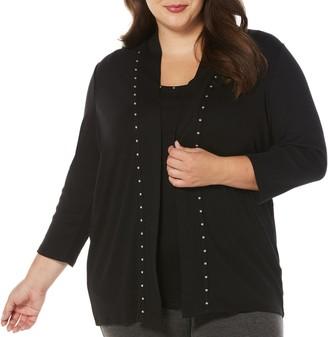 Rafaella Women's Plus Size Women'sHeat Set Cardigan