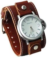 Nemesis #BLBB054W Men's Premium Wide Leather Strap Retro Diver Watch