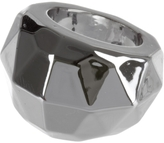 Faceted Chrome Ring