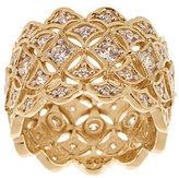 Diamonique 18K Gold-Clad Lace Design Wide Eternity Band