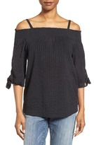 Caslon Tie Sleeve Off the Shoulder Tie Sleeve Top