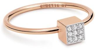 ginette_ny Mini Diamond Ever Square Ring