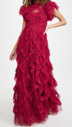 Needle & Thread Genevieve Ruffle Gown