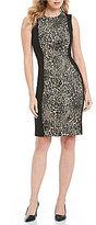 Calvin Klein Leopard Panel Sheath Dress