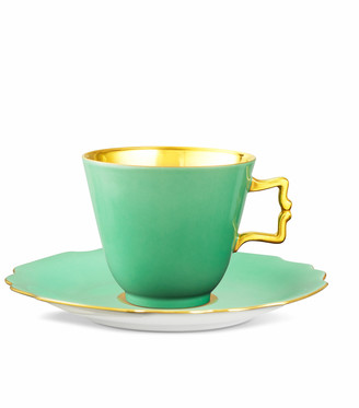 Augarten Wien Belvedere Light Green Coffee/Tea Cup With Gold Inside