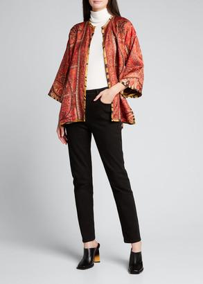 Etro Paisley Reversible Animal-Print Kimono