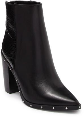 Aldo Ibalenna Leather Block Heel Ankle Boot