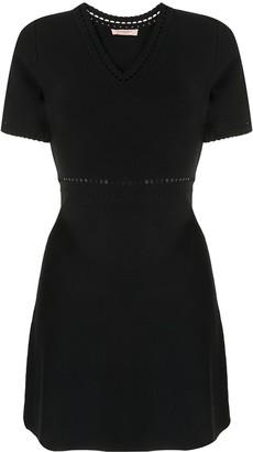 Twin-Set Perforated Mini Dress