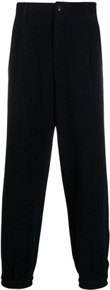 Giorgio Armani Herringbone Loose Fit Trousers