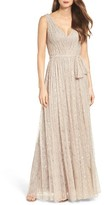 Vera Wang Women's Lace Fit & Flare Gown
