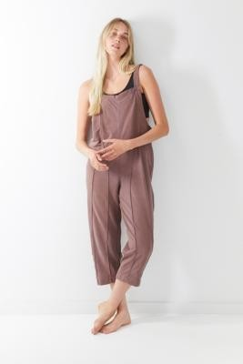 Out From Under Jamie Square Neck Jumpsuit - Brown S at Urban Outfitters