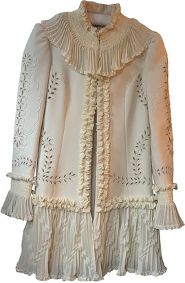 Temperley London Beige Wool Coats