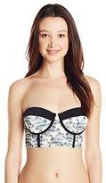 Reef Women's Island Molded Underwire Bustier Bandeau Bikini Top
