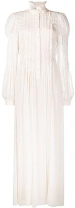 Philosophy di Lorenzo Serafini Ruffle Collar Pleated Maxi Dress