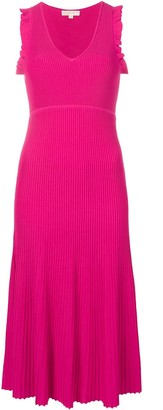 MICHAEL Michael Kors Micro-Pleated Flared Dress