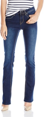 Lola Jeans Women's Leah 9 Inch Mid Rise Pull On Boot Cut Jeans
