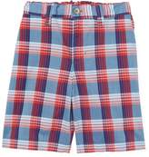 Oscar de la Renta Plaid Cotton Shorts