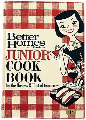One Kings Lane Vintage Junior Cook Book - 1963 - Brandywine Bookshop - red/white