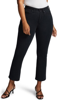 NYDJ Curves 360 by Shape Kick Flare Crop Jeans