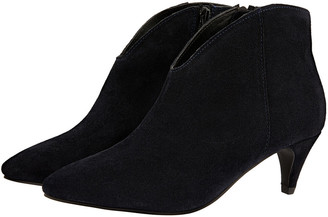 Monsoon Low Vamp Suede Ankle Boots Blue