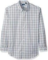 Arrow Men's Big and Tall Long Sleeve Hamilton Poplin Multi Gingham Shirt