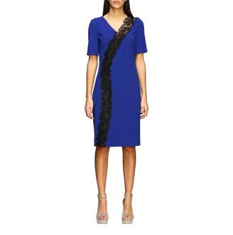 Boutique Moschino Stretch Cady Sheath Dress With Macrameacute; Insert
