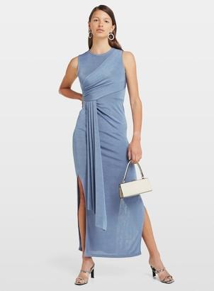 Miss Selfridge Blue Grecian Maxi Dress