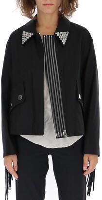 Alexander Wang Pointed Collar Open Jacket